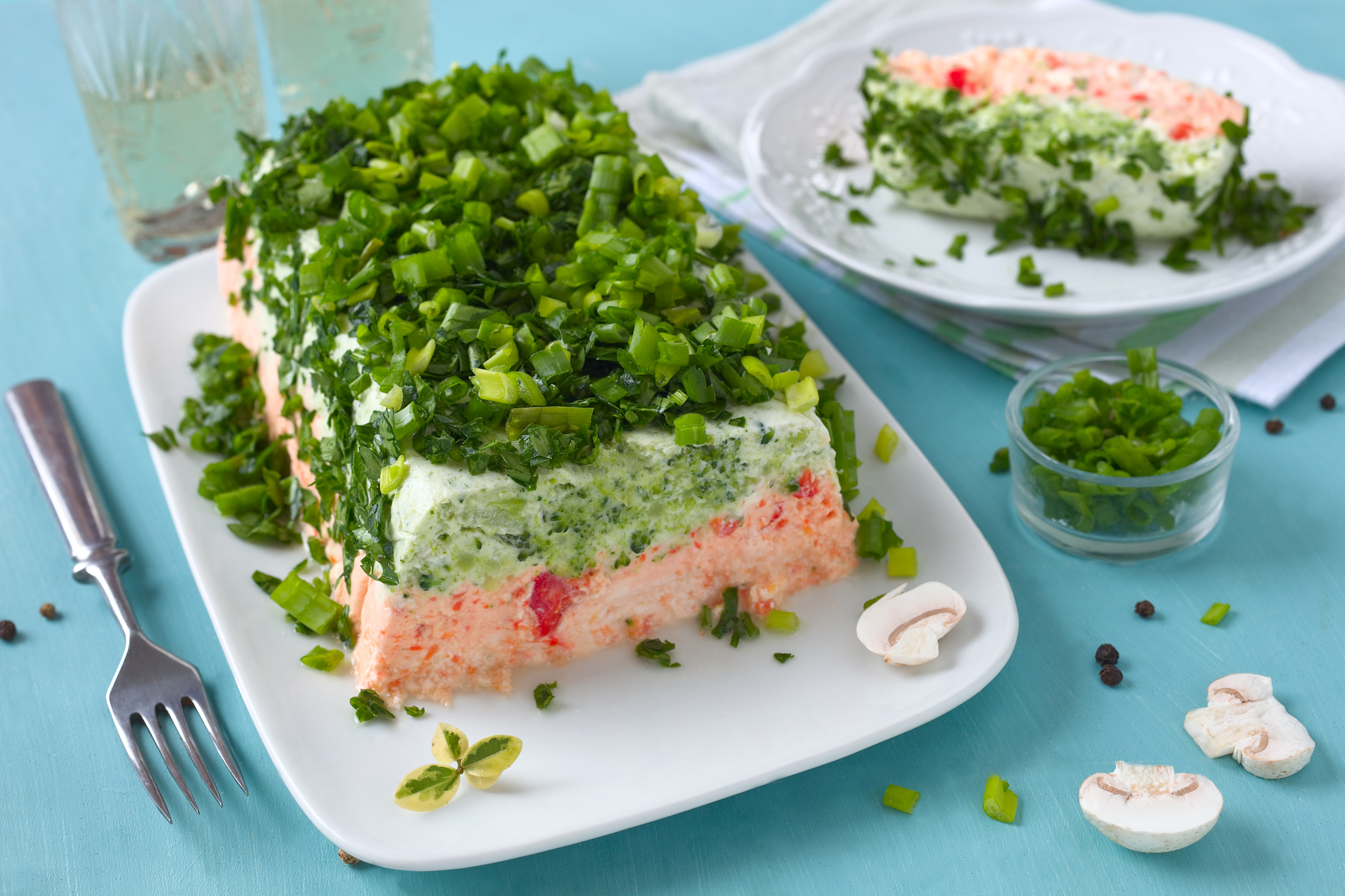 Terrine de saumon et brocolis